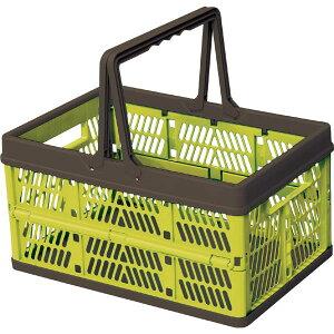 収納ボックス プラスチック フォールディングボックス 折りたたみ 折り畳み 取っ手付き 野外 スタッキング ランドリーボックス 洗濯かご おもちゃ箱 大容量 シンプル おしゃれ 北欧 グリー