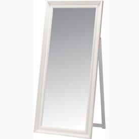 スタンドミラー 姿見 全身 飛散防止ミラー 木製 アンティーク ミラー 鏡 全身鏡 かがみ カガミ モダン 美容院 店舗 カフェ サロン レトロ モダン ブルックリン 西海岸 おしゃれ ホワイト
