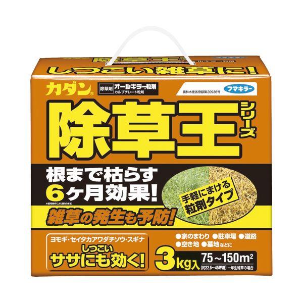 (まとめ) フマキラー カダン除草王 オールキラー粒剤 3kg 1本 【×2セット】