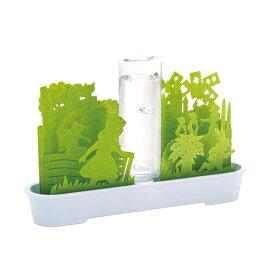 送料無料 自然気化式ECO加湿器 不思議な世界 グリーン