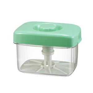 送料無料 トンボ 即席漬物器 マミー 角3型 グリーン