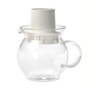 ハリオ ティーハット ホワイト HARIO 白色 ティーポット 耐熱ガラス製 ティーバッグ用