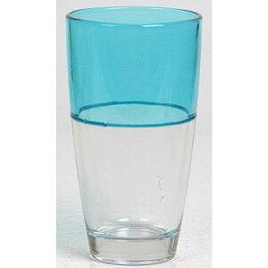 送料無料 6個入り コップ ガラス グラス ツートン M ブルー ガラスコップ おしゃれ ギフト 結婚祝い 内祝い お祝い 贈り物 プレゼント 誕生日