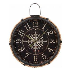 送料無料 ウォールクロック コンパス φ47cm 掛け時計 掛時計 かけ時計 壁掛け時計 壁掛け シンプル 北欧 モダン かわいい おしゃれ