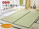 い草 上敷き カーペット 4.5畳 国産 フリーカットタイプ 『F竹』 江戸間4.5畳 (約261×261cm) 裏:ウレタン張り
