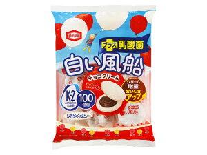 亀田製菓 白い風船チョコクリーム 18枚 x12 *