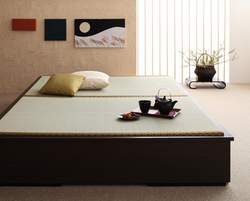 ベッド ダブル 日本製畳ベッド 収納ベッド ダブルサイズ ダブルベッド 畳ベット 畳ベッド 収納付きベッド ヘッドレス ベッド下収納 大容量収納 引き出し付きベッド 木製ベッド 畳収納ベット タタミ たたみ 花梨 和風 tatami 和室 コンパクト ショート 寝室 040103828
