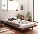 (送料無料) ローベッド フロアベッド 木製 ベッド ショート丈 デザインボードベッド キャタルパ木脚タイプ(ショート丈…