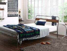(送料無料) パイプベッド ベッドフレーム マットレス付き ディペレス ボンネルコイルマットレスレギュラー付き すのこベッド ダブル スチールベッド ベッド すのこべット パイプベット 金属製 西海岸 ブルックリン 省スペース