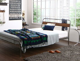 (送料無料) パイプベッド ベッドフレーム マットレス付き ディペレス ボンネルコイルマットレスハード付き すのこベッド ダブル スチールベッド ベッド すのこべット パイプベット 金属製 西海岸 ブルックリン 省スペース