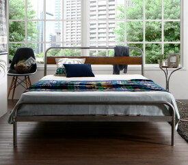 (送料無料) パイプベッド ベッドフレーム マットレス付き ディペレス デュラテクノスプリングマットレス付き すのこベッド ダブル スチールベッド ベッド すのこべット パイプベット 金属製 西海岸 ブルックリン 省スペース