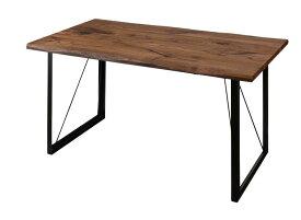 (送料無料) ダイニングテーブルのみ 幅150cm 天然木 ウォールナット 無垢材 ヴィンテージデザインダイニング Detroit デトロイト 食卓 テーブル 木製 角型 4人用 4人掛け ブルー グレー ブラック モダン