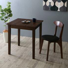 (送料無料) ダイニングテーブルセット 2点セット(テーブル ブラウン W68+チェア1脚) 北欧 ダイニング Lucks ルクス 木製 食卓 1人掛け ダークグレー グリーン