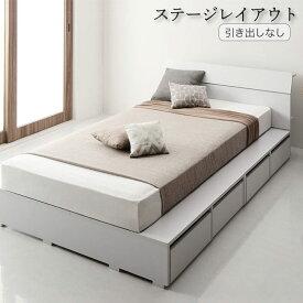 棚コンセント付デザイン収納ベッド Novinis ノビニス スタンダードボンネルコイルマットレス付き 引き出しなし ステージレイアウト セミシングル フレーム幅100