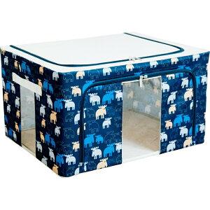【まとめ買い5セット】窓付き収納ボックス 55L moz おしゃれ かわいい フタ カジュアル 北欧 小物入れ 小物収納 入れ物 北欧 おもちゃ箱 おもちゃ入れ 子供部屋 キッズ