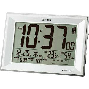 【まとめ買い10セット】CITIZEN 電波デジタルアラーム時計 シチズン ウォッチ 置時計 曜日 日付 シンプル デジタル 日常使い