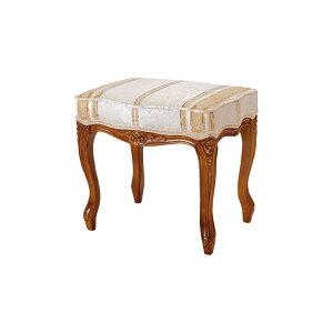 送料無料 スツール アンティーク 猫脚 フィオーレ 椅子 木製 おしゃれ いす イス ブラウン 茶 SA-C-1470-B4