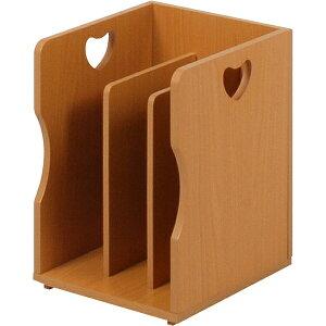 送料無料 4個セット ブックスタンド 木製 卓上 A4サイズ 本棚 シェルフ マガジンラック 本立て ナチュラル MM-7205NA
