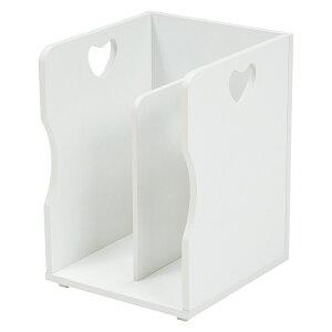 送料無料 4個セット ブックスタンド 木製 卓上 A4サイズ 本棚 シェルフ マガジンラック 本立て ホワイト MM-6805WH