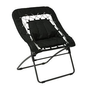 送料無料 チェア 折り畳みチェアー ガーデンチェア イス 椅子 カフェ テラス 折りたたみ ベランダ ガーデンファニチャー スチール アウトドアチェア ビーチチェア おしゃれ ブラック LC-4167BK