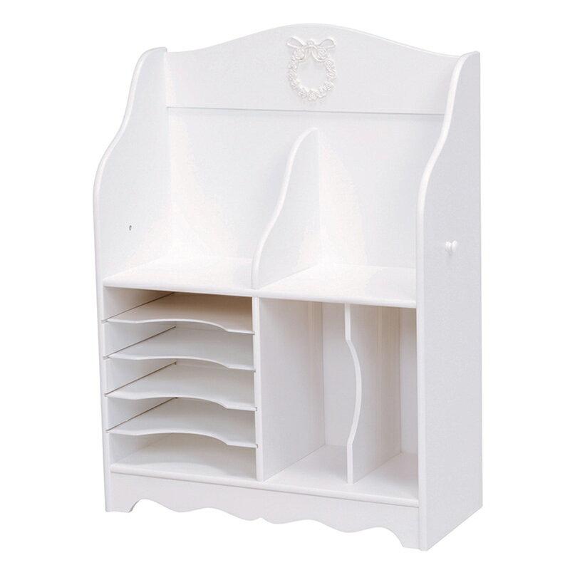 送料無料 ランドセルラック 北欧 女の子 白 かわいい 木製 レディース 子供部屋 おしゃれ 棚 ホワイト 収納【MCC-6378WH】