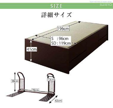 畳みベッドたたみタタミ畳収納ベッドシンプルモダン畳チェストベッド【翠緑】すいりょ【フレームのみ】シングル家具通販