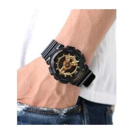 CASIO カシオ G-SHOCK GA-110GB-1A (国内品番GA-110GB-1AJF同型)ジーショック Black × Gold Series(ブラック×ゴールドシリーズ)メンズ 腕時計 デジアナ 人気モデル!! ワールドタイム デジアナ アナデジ プレゼント