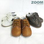 ZOOMpeep(ズーム/ピープ)ウィングチップシューズ/靴/スニーカー/ベビーシューズ/革靴/本革(牛革)キッズ/子ども/子供/ベビー/赤ちゃん/女の子/男の子(12.5/13/13.5/14cm)ご出産祝いなどのギフトにもおすすめ!