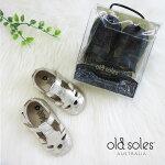 oldsolesオールドソールズCUTESYSHOE猫シューズベビー/キッズ/女の子ブラック/ゴールド12-14.5cm#006R