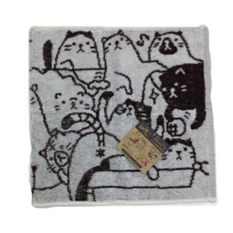 Handkerchief towel cat cat にゃんこ face towel hand towel with life miscellaneous goods miscellaneous goods kidult woman pocket is pretty
