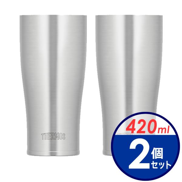 サーモス 真空断熱タンブラー 420ml 2個セット JDE-420 ステンレス (S)