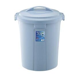 ベルク 丸型ペール ゴミ箱 75L 70N 本体・フタセット ブルー