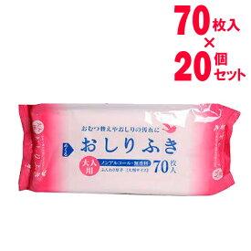 大人用 おしりふき 厚手大判サイズ 70枚入(20個セット)