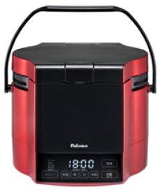 (最大450円OFFクーポン有)(送料無料)パロマ PR-M09TR 都市ガス用 マイコン電子ジャー付 ガス炊飯器 炊きわざ 0.9L 5.0合 プレミアムレッド×ブラック