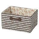 収納ボックス カラーボックス用 花柄 ダークブラウン ( 収納かご インナーケース )