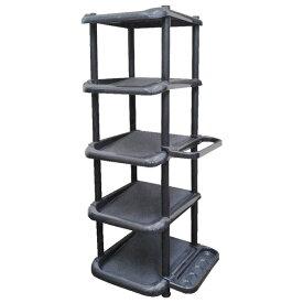 靴 収納 シューズラック 5段 ブラック ( 玄関収納 )