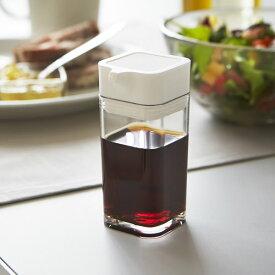 山崎実業 しょう油差し タワー プッシュ式醤油差し 80ml ホワイト 2865 | 調味料入れ プッシュ 醤油ボトル