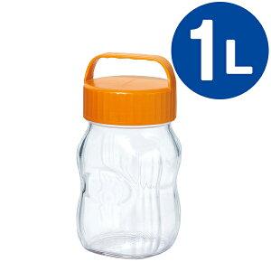 漬け上手 ガラス容器 フルーツシロップびん 1L オレンジ