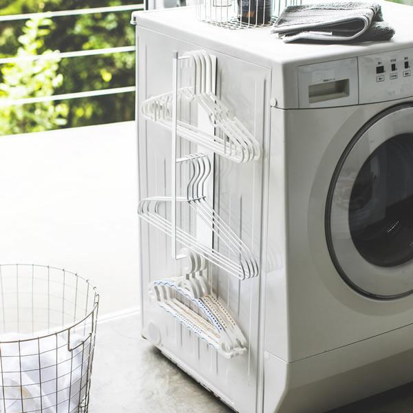 山崎実業 プレート マグネット洗濯ハンガー収納フック ホワイト 3585