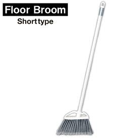 ka:z clean フロアブラシ 床用ほうき ショート ホワイト