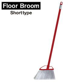 ka:z clean フロアブラシ 床用ほうき ショート レッド