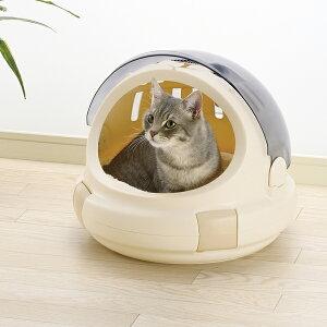 猫用キャリーバッグ リッチェル コロル おでかけネコベッド ベージュ M ( 猫 キャリー おしゃれ 日本製 )