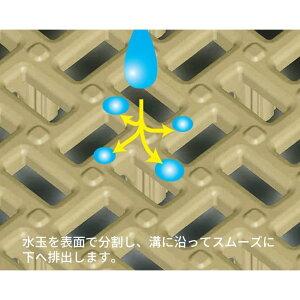 ベランダマットタイル日本製コンドル水切りユニット(30×30cm)グリーン30枚セット