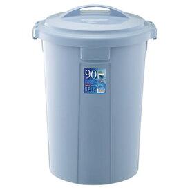 ゴミ箱 ベルク 丸型ペール 90N 90L 本体・フタセット ブルー ( ごみ箱 屋外 ポリバケツ )