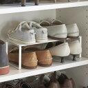 靴 収納 下駄箱中 伸縮シューズラック フレーム ホワイト