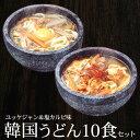 うどん 韓国うどん10食セット(塩カルビスープ味×5食、ユッケジャンスープ味×5食) プロが選ぶ業務用・麺は1玉170g…
