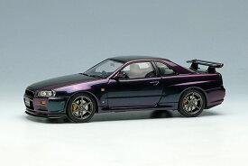 EIDOLON(アイドロン) 1/43完成品 EM462SC1 ニッサン スカイライン GT-R (BNR34) V-Spec 特別限定車 1999 ミッドナイトパープル2 限定50台