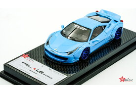 FuelMe Model FM43005LM-G 1/43完成品 Liberty Walk LB WORKS 458 Baby Blue (Duck Tail) 40台限定