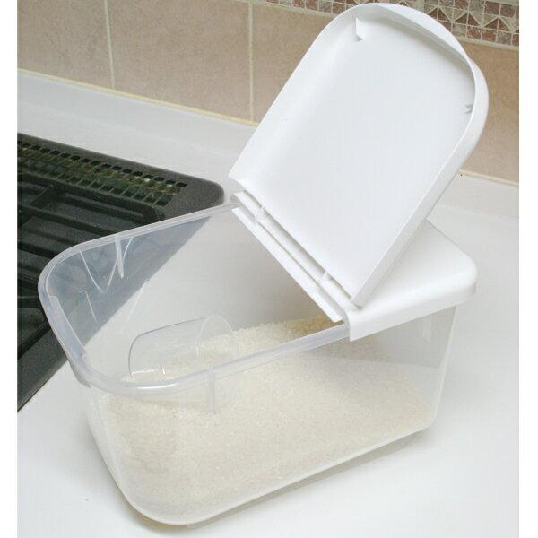 米びつ 5kg スリム アイリスオーヤマ PRS-5 送料無料 キッチン収納 米櫃 計量カップ 冷蔵庫 ライスストッカー ライスボックス ストッカー 野菜室 ホワイト クリア キッチン用品 米 炊飯 キッチン 収納