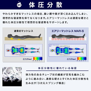 マットレスエアリーマットレス極厚9cmダブルHG90-Dアイリスオーヤマ送料無料3つ折り三つ折り高反発エアリーAiry高反発マットレスカバーベッド折りたたみ折り畳み腰硬め洗える通気性日本製腰痛